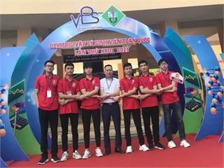 Trường Đại học Công nghiệp Hà Nội xuất sắc giành giải nhất toàn đoàn tại cuộc thi Olympic Vật lý sinh viên toàn quốc lần thứ 23.