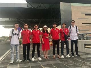 Đội tuyển Olympic Vật lý trường Đại học Công nghiệp Hà Nội tham dự kỳ thi Olympic Vật lý sinh viên toàn quốc lần thứ 23.