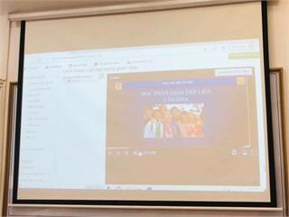 Nghiệm thu xây dựng bài giảng điện tử học phần Giao tiếp liên văn hóa.