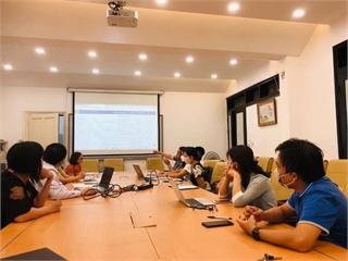 Nghiệm thu xây dựng bài giảng điện tử các học phần Toán cơ bản.